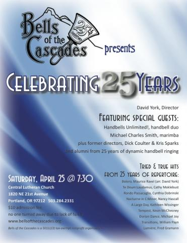 Bells of the Cascades: Celebrating 25 years!