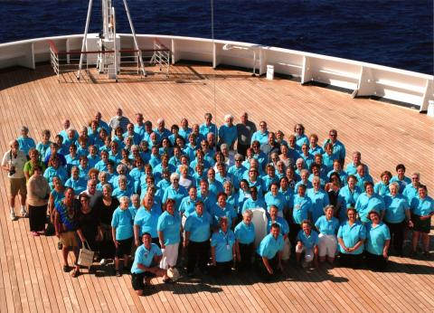 Participants in Cruise X: Winter 2009 with David Harris, clinician