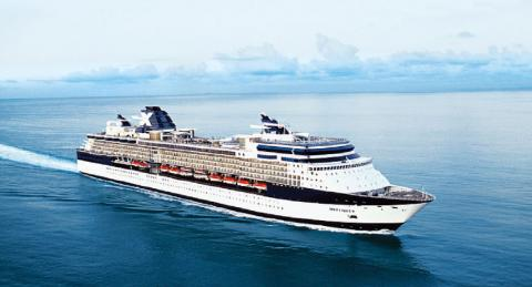 The Celebrity Infinity cruise ship