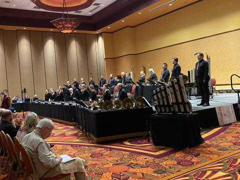 Bells of the Cascades with the Cathedral Bells at National Seminar 2021. Photo by Sandy Boothe.