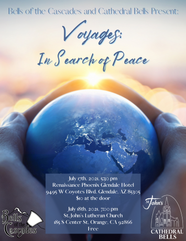 Flyer: Voyages In Search of Peace concert